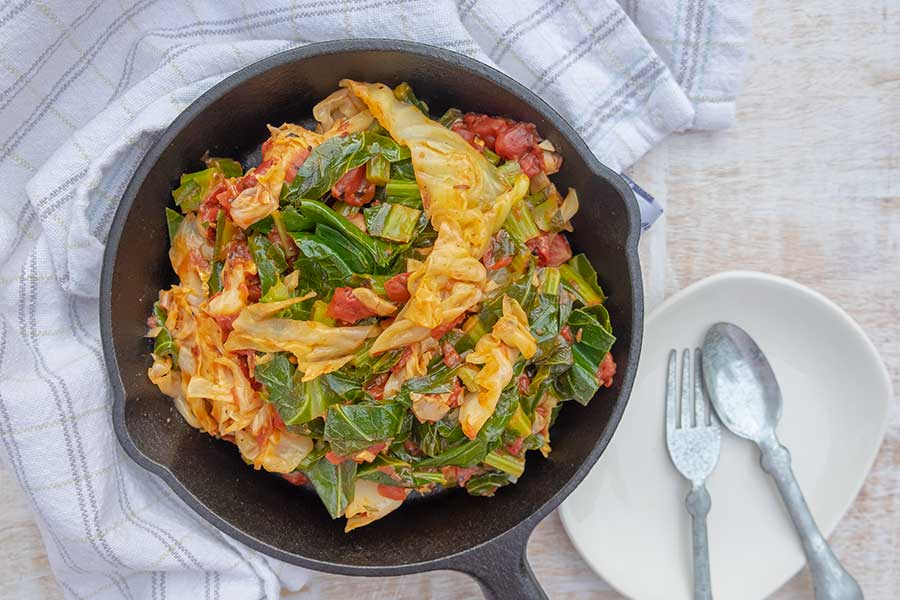 collard greens, side dish