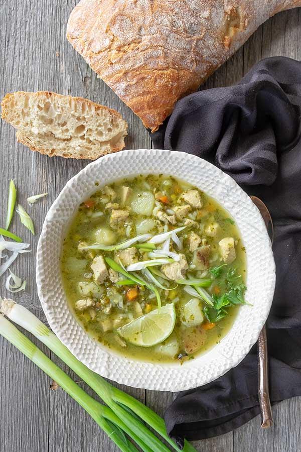 Peruvian Chicken soup, gluten free