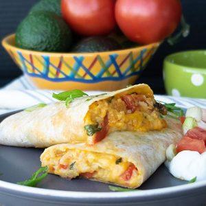 Gluten-Free Baked Vegetarian Burrito