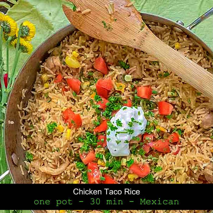 chicken taco rice, gluten free
