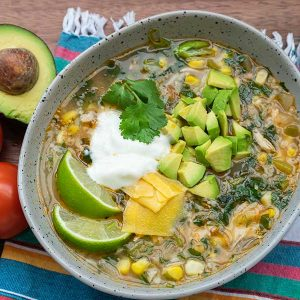 Mexican Chicken Rice Soup