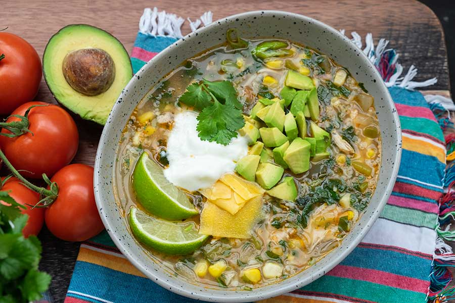 Mexican chicken rice soup, gluten free