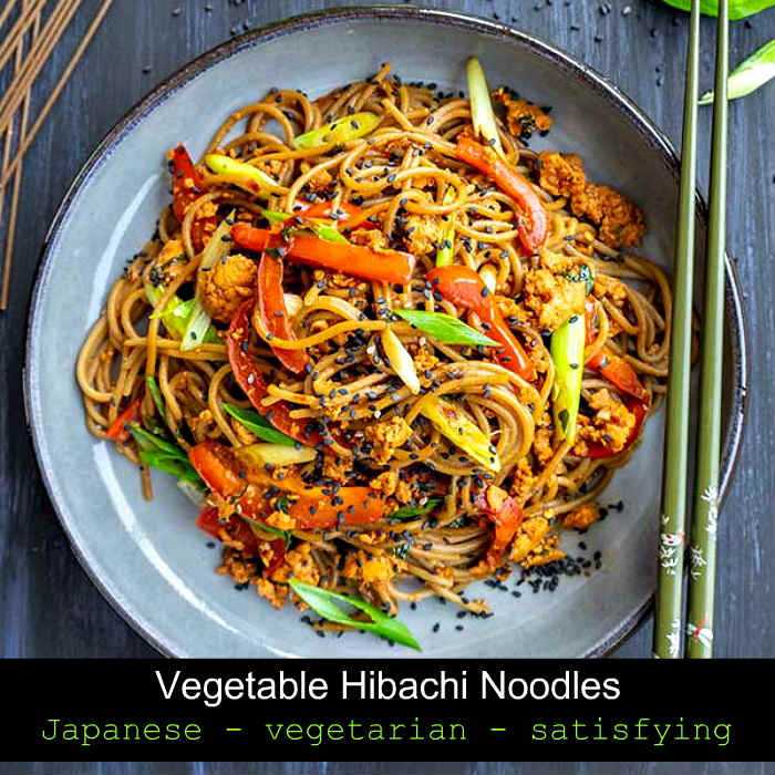 hibachi noodles, gluten free