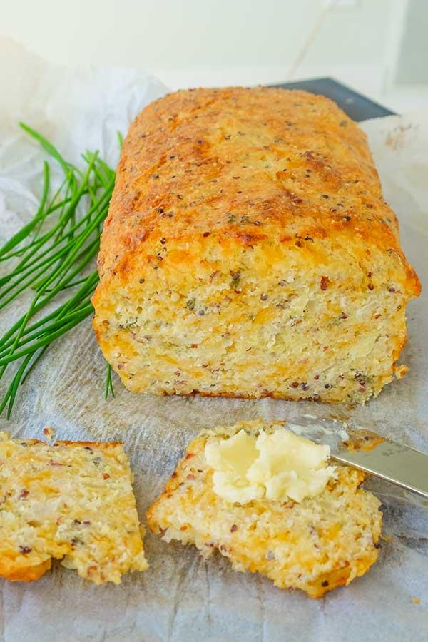 quinoa cheese bread, gluten free