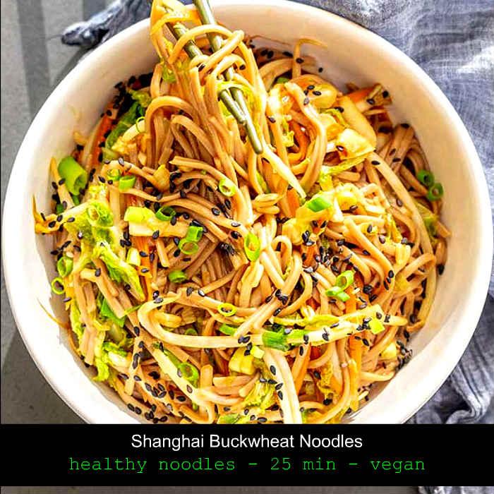 Shanghai buckwheat noodles, gluten free