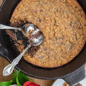 Skillet Chocolate Chip Cookie with Coconut (Grain-Free)