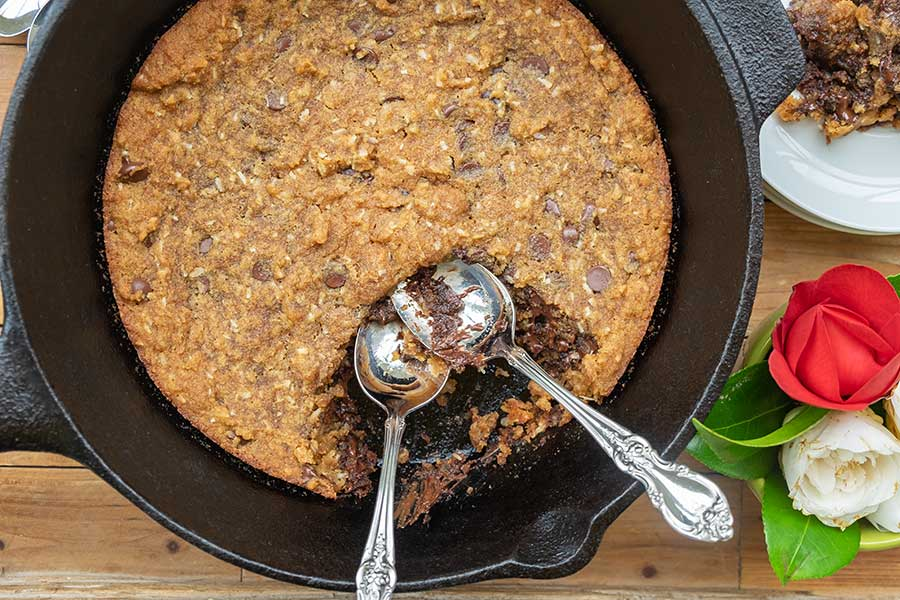 skillet chocolate chip cookie, gluten free