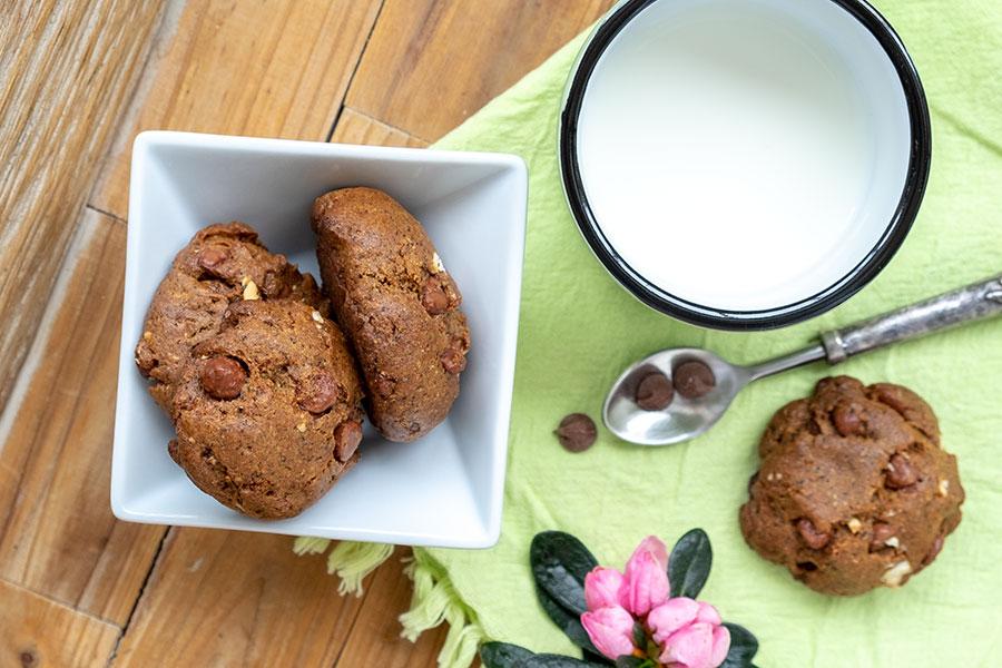 buckwheat chocolate chip cookie, gluten free