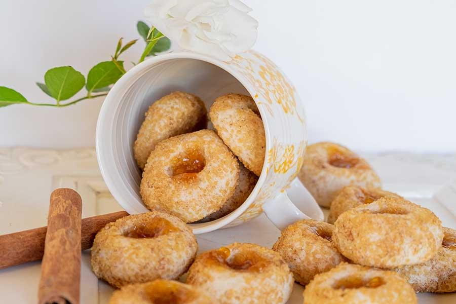 chai thumbprint cookies, gluten freee