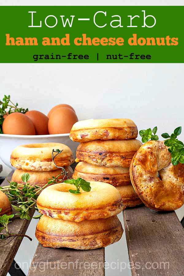 Low-Carb Grain-Free Ham and Cheese Donuts