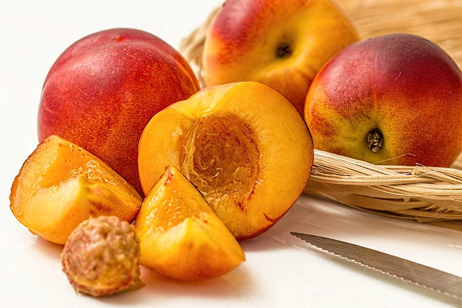 fresh peach smoothie