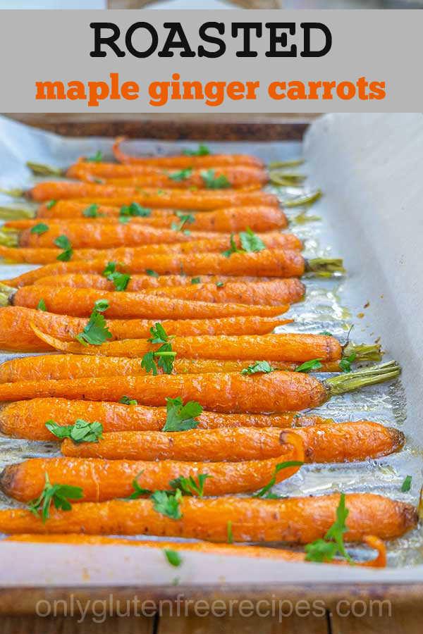 Maple Ginger Roasted Carrots
