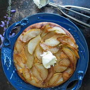 Upside-Down Pear Dutch Baby – Gluten-Free