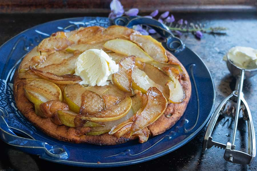 pear dutch baby, gluten free