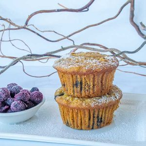 Gluten-Free Blueberry Apple Corn Muffins