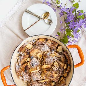 Gluten-Free Apple Bread and Butter Pudding