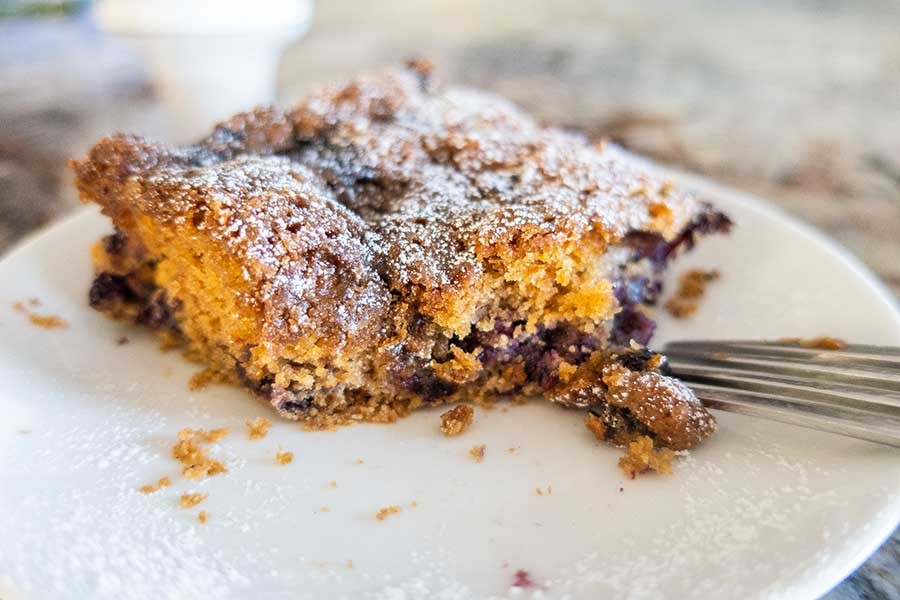 gluten-free blueberry buckle