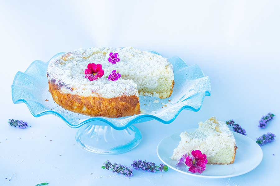 cream cheese vanilla cake, gluten-free