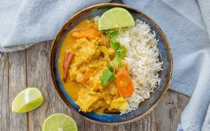 instant pot coconut curry chicken dinner