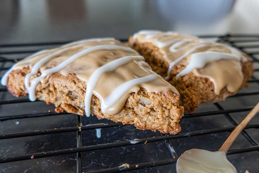 gluten free maple oat nut scones