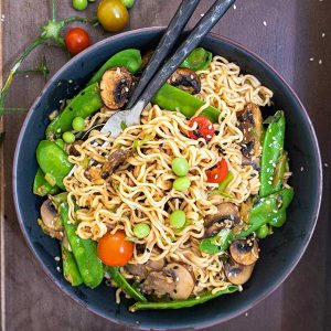 Gluten-Free Miso Ramen with Sesame Mushrooms