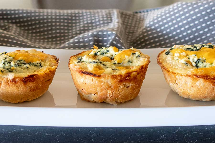 gluten-free puff pastry spinach cheese cups