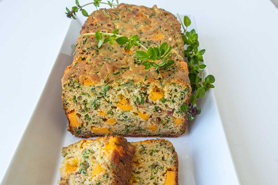 bacon and cheese bread, gluten-free