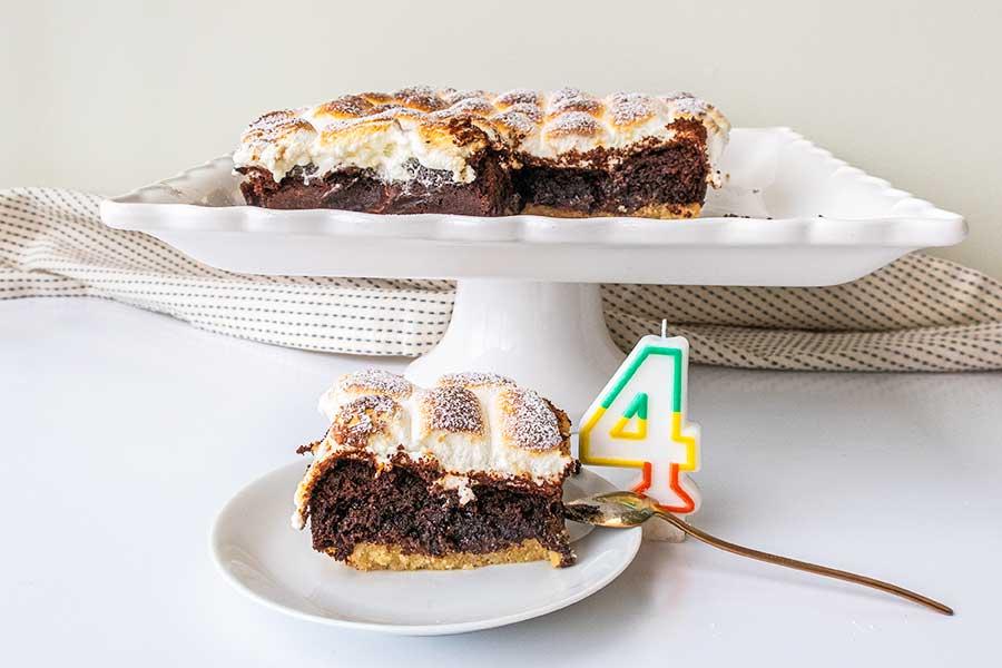 smore chocolate cake, gluten free
