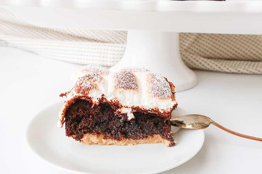 s'more chocolate cake, gluten free