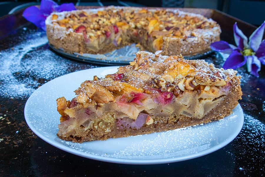 gluten free strawberry apple cake
