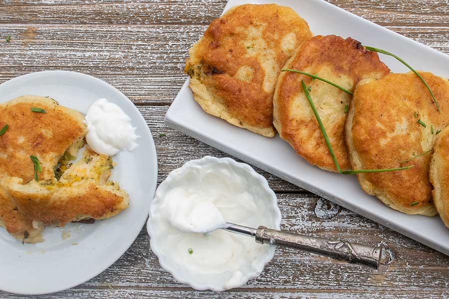 gluten free stuffed potato cakes