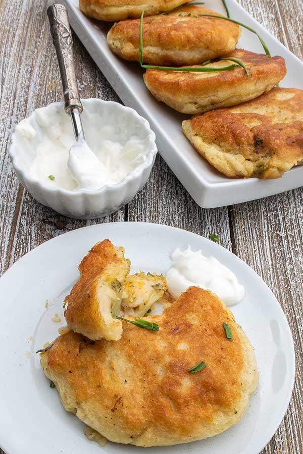 stuffed potato cakes, gluten freee