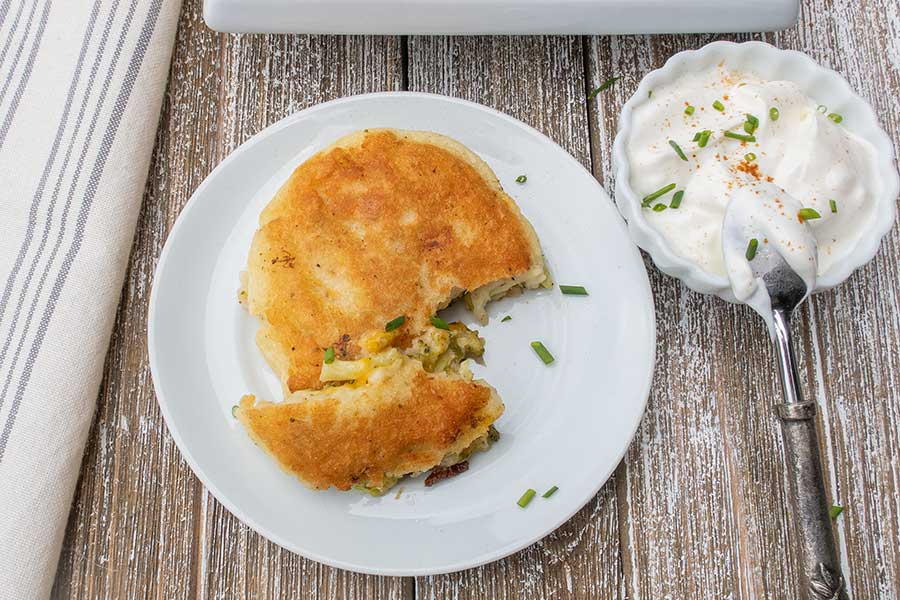 gluten free stuffed potato cakes
