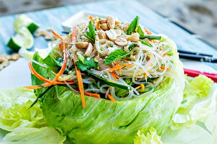 Vietnamese noodle salad, gluten free