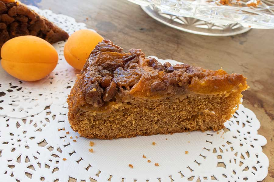 gluten free apricot maple cake