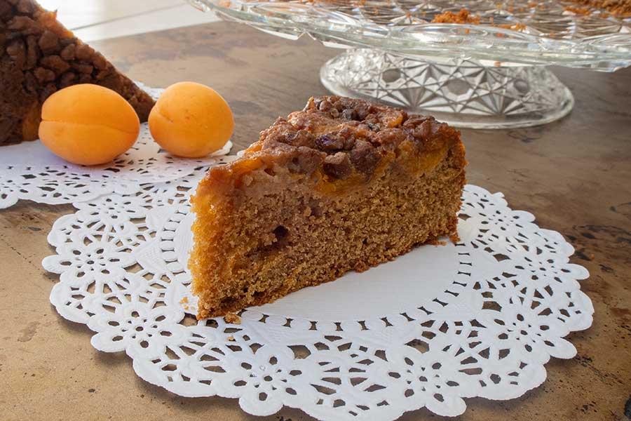 gluten free apricot maple butter cake