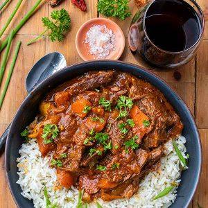 Instant Pot Spicy Dominican Beef Stew