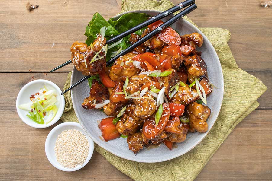 Kung Pao Cauliflower, gluten free