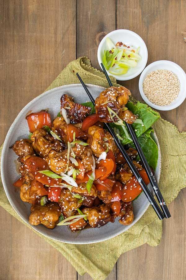 celiac recipe, Kung Pao Cauliflower