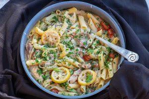 one skillet chicken pasta, gluten free