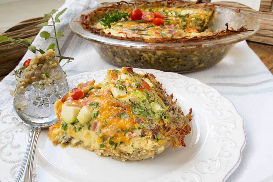 potato crusted quiche, gluten free