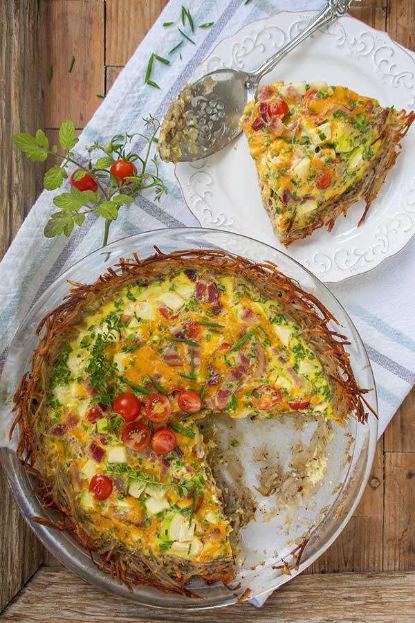 potato crusted quiche, gluten free