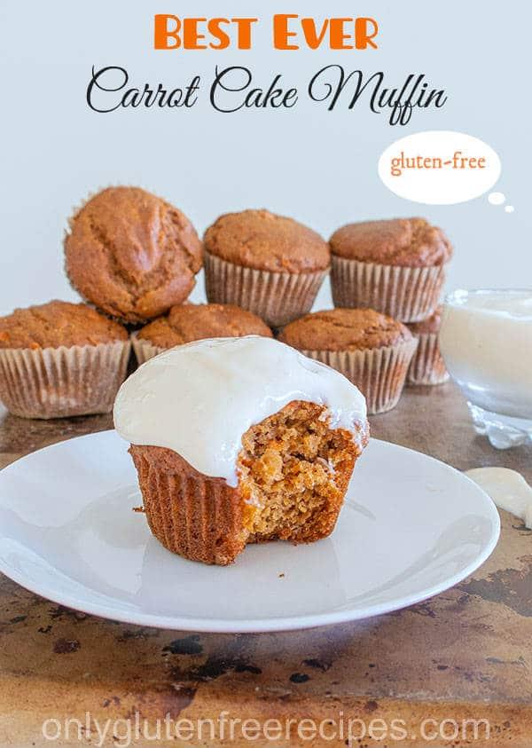 Very Best Gluten-Free Carrot Cake Muffins