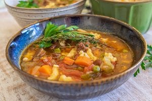 instant pot beef and vegetable soup