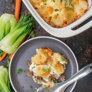 Gluten-Free Philly Cheesesteak Casserole