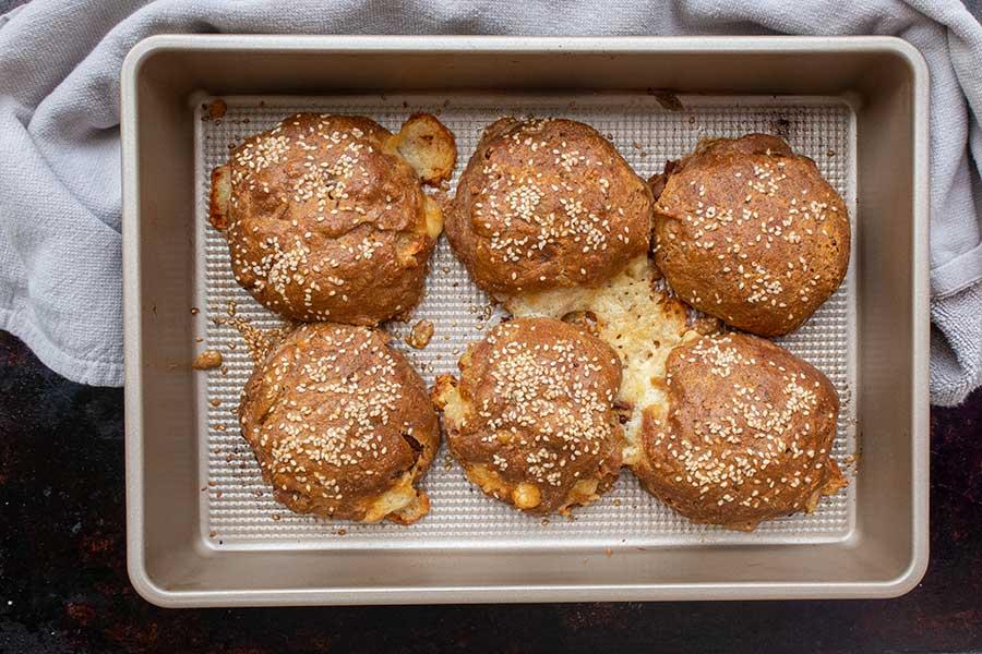 gluten-free pizza brioche rolls