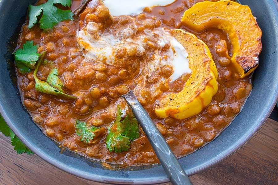creamy lentils, healthy