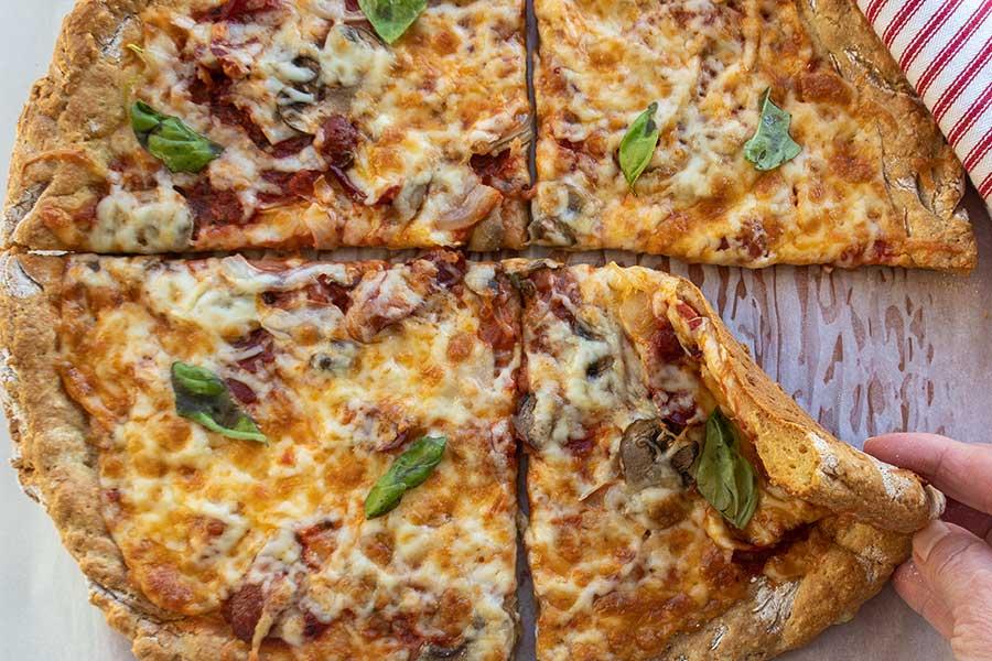 New York style pizza, gluten free