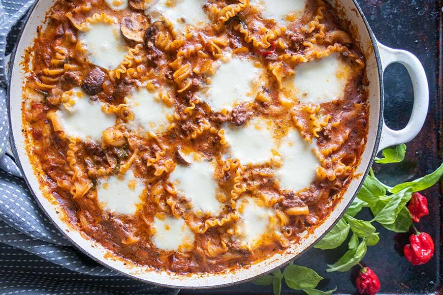 stovetop lasagna, gluten-free
