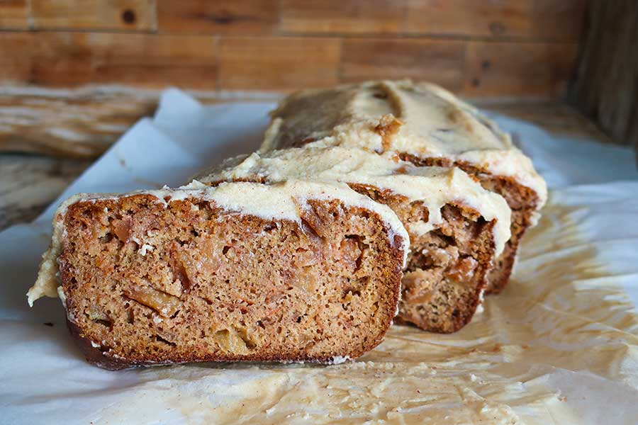apple carrot loaf, gluten free